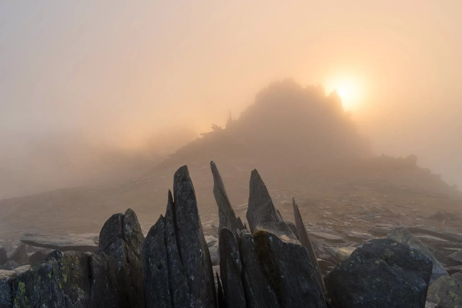Castell y Gwynt Sunset - Castle of the Winds - Snowdonia Photography