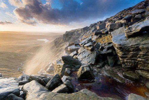 Kinder Downfall Sunset - Kinder Mass Trespass Photographic Walk