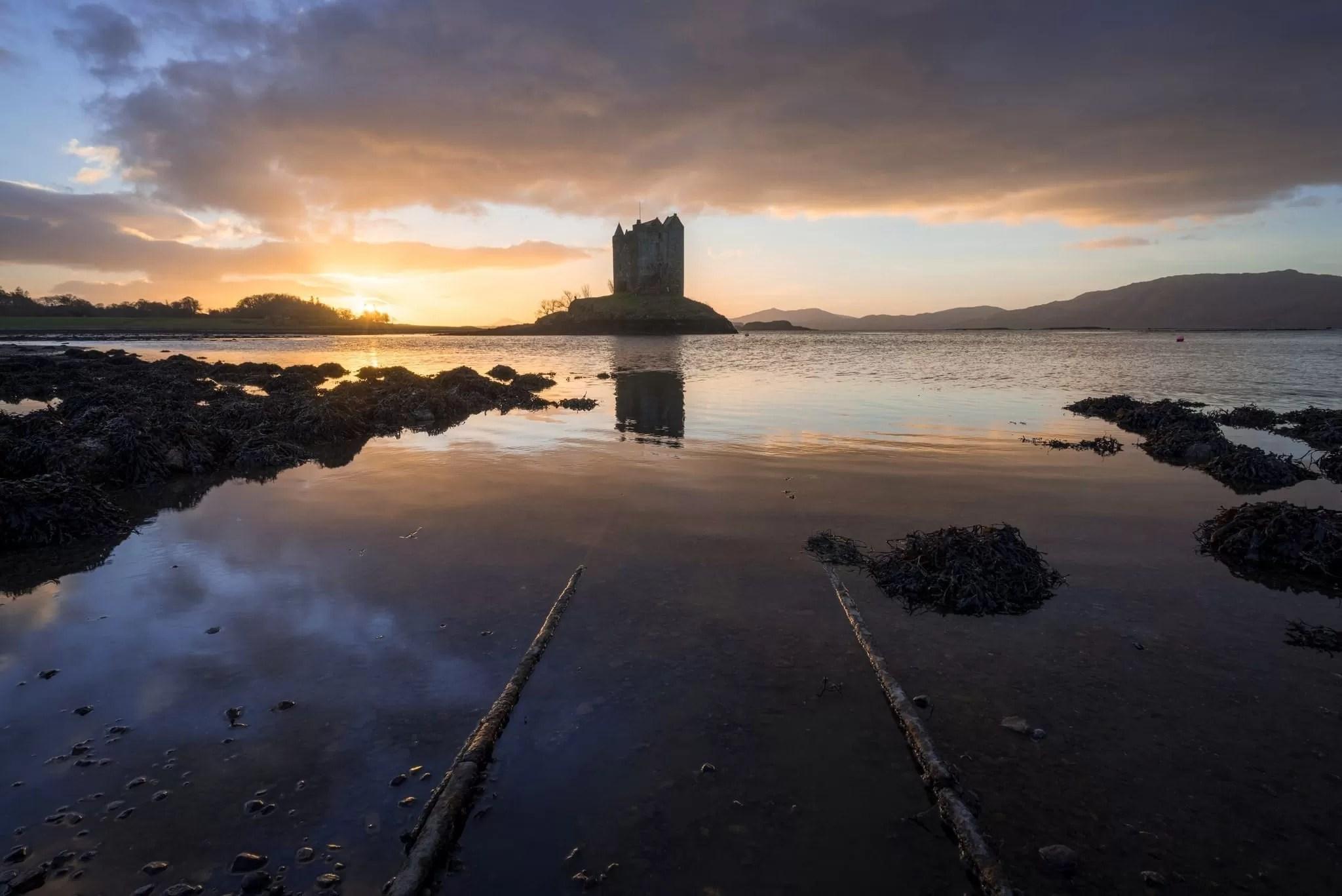 Castle Stalker Sunset - Scotland Photography Workshops