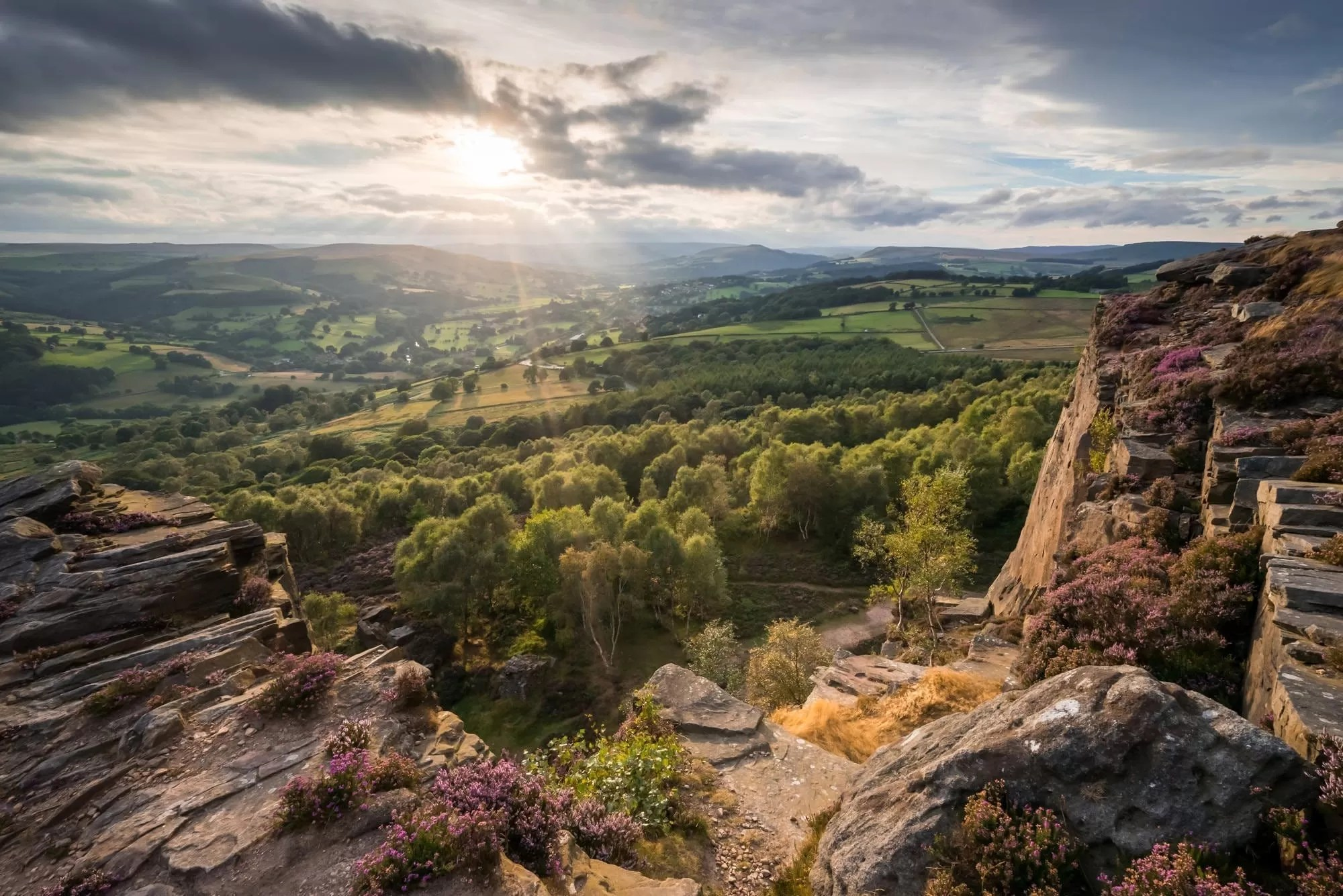 Millstone Edge Sunset - Peak District Through The Lens Photography Workshop
