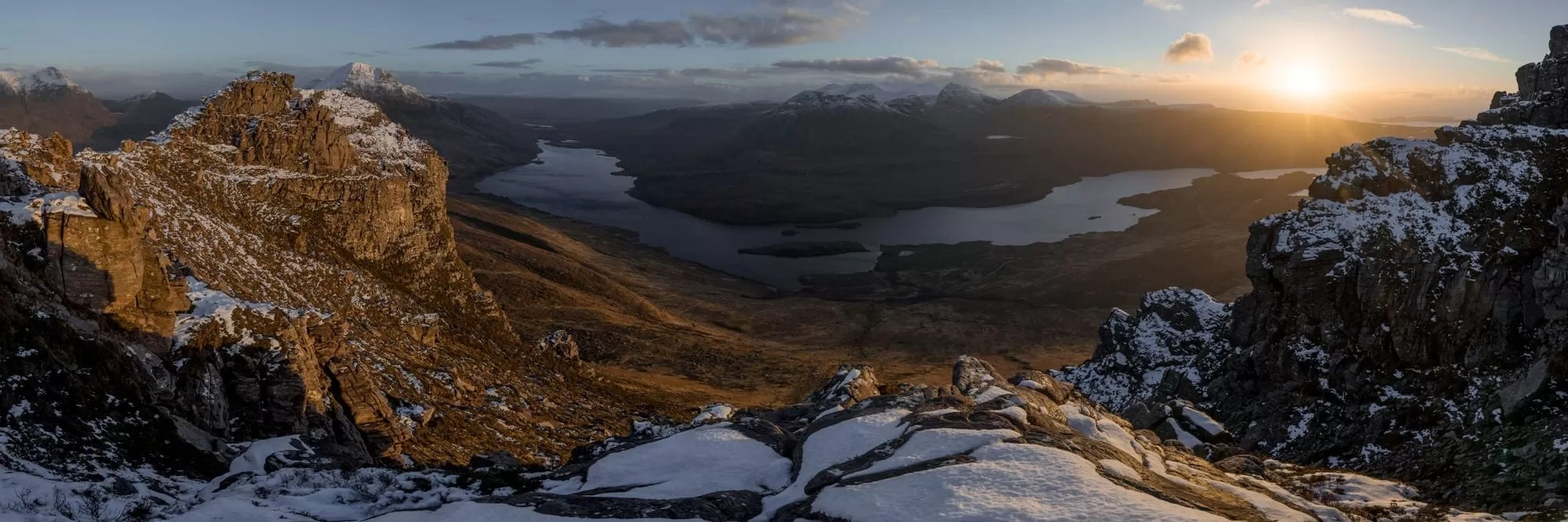 Stac Polliadh Panoramic Sunset - Scotland Photography