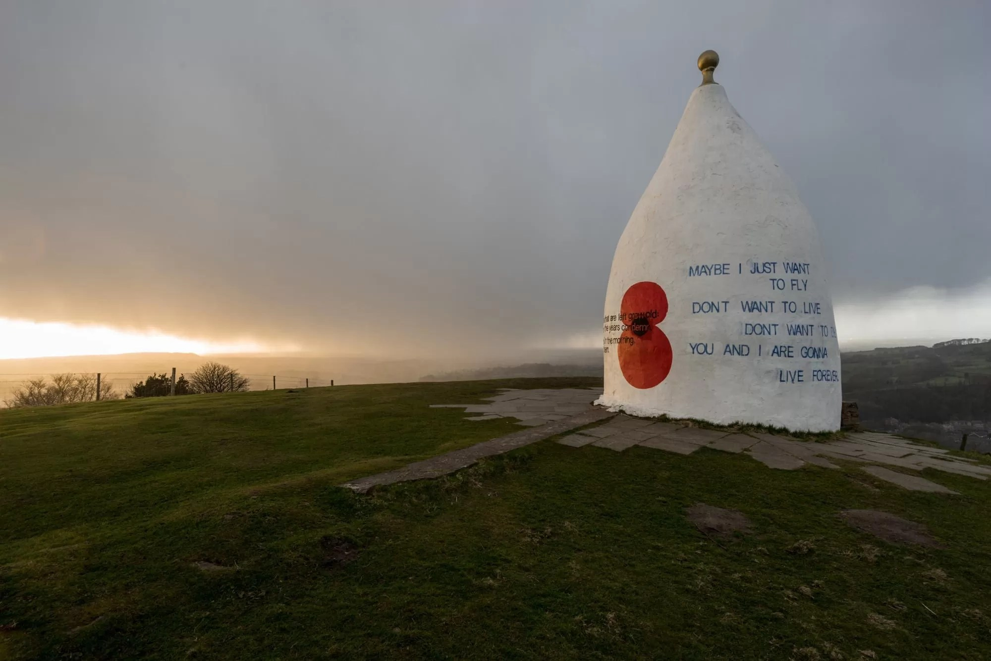 White Nancy Sunset - Peak District Photography