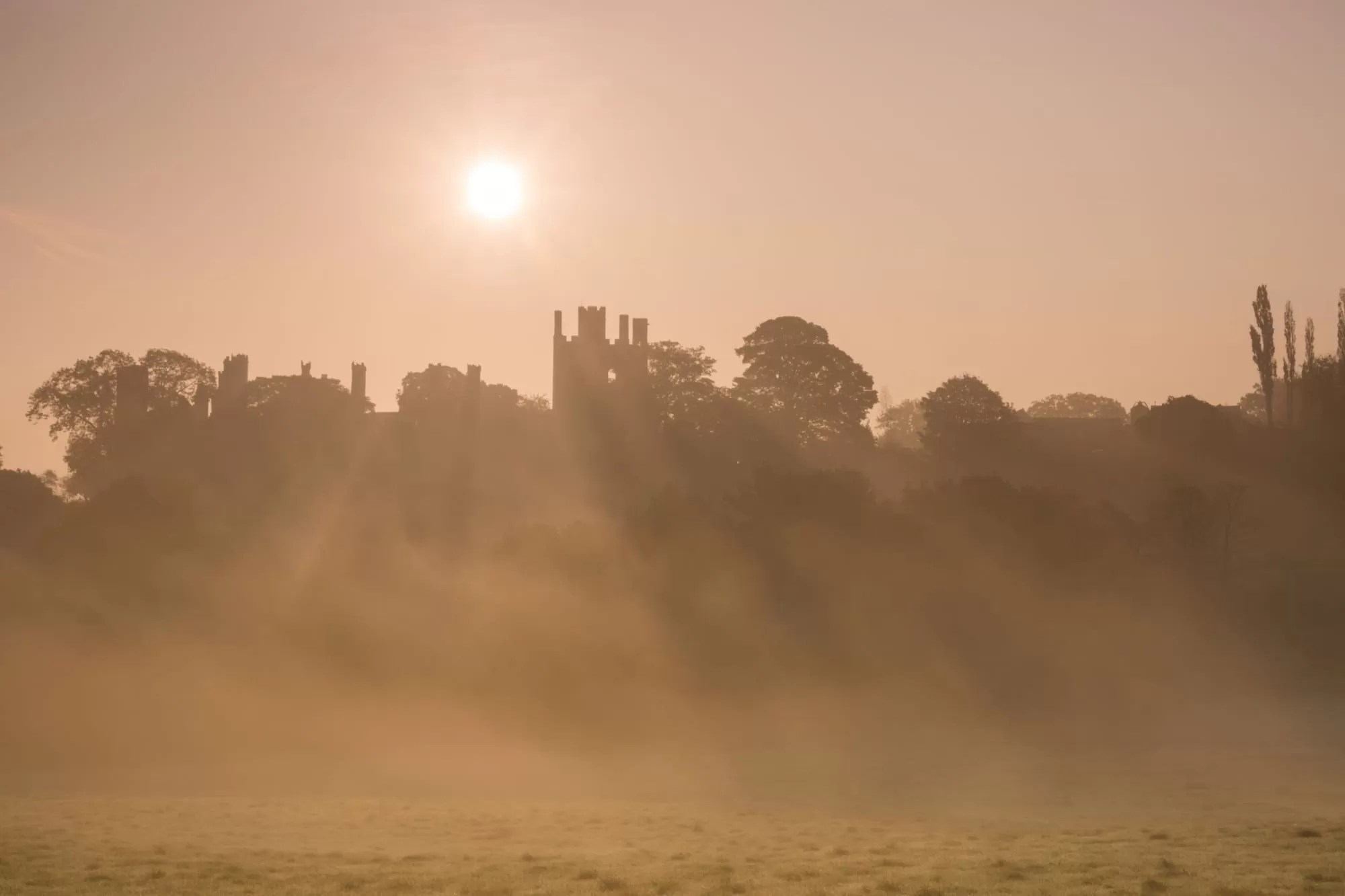 Wingfield Manor Sunrise - Derbyshire Photography