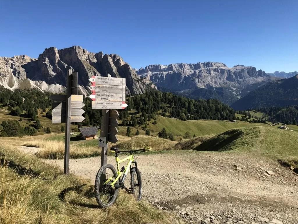 Seceda Mountain Biking in the Dolomites