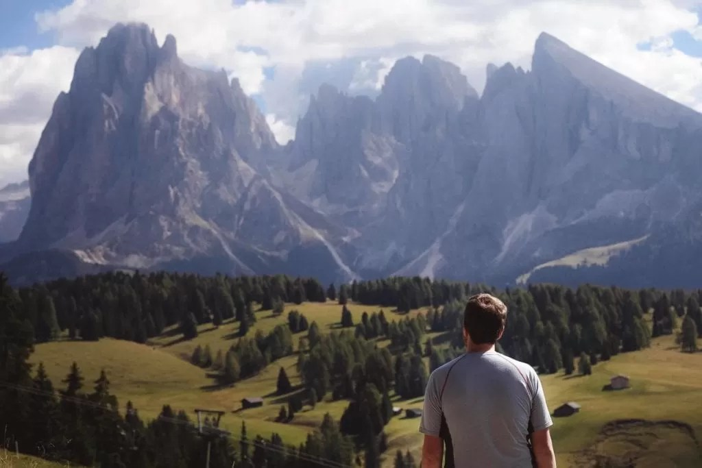 Me looking at the view from Alpe Di Siusi