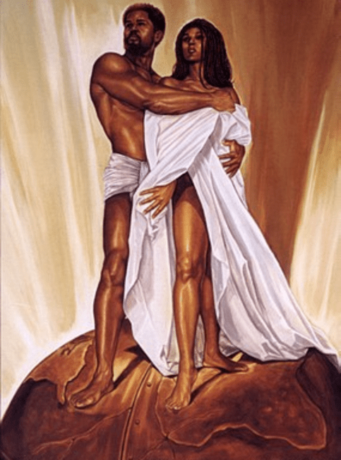 Image result for black man and woman art