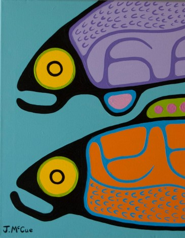 Two Fish 20x16