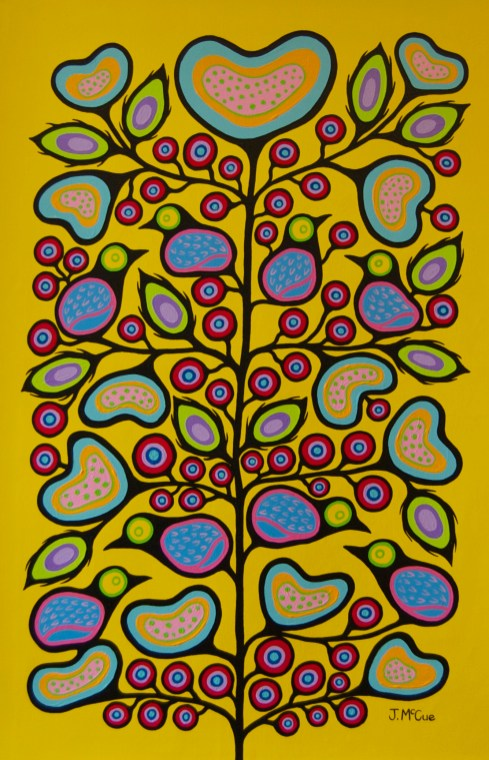 """""""Lover's Tree"""" Acrylic on canvas 54"""" x 36"""" unstretched"""
