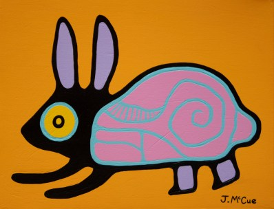 """Bunny"" Acrylic on canvas 14"" x 18"" stretched"