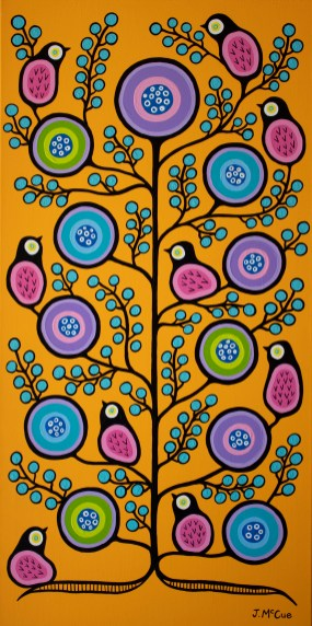 """Spring Equinox"" Acrylic on canvas 48"" x 24"" stretched"