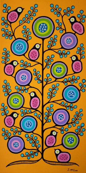 """Spring Equinox #2"" Acrylic on canvas 48"" x 24"" stretched"
