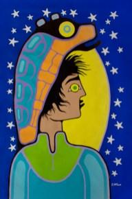 """Illuminated #1"" Acrylic on canvas 52"" x 36"" unstretched"