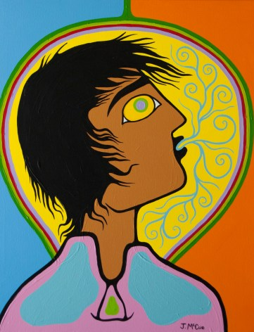 Self Portrait of Artist Creating #2 30x24