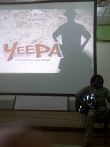 Guitar player Edaoto Agbeniyi opening the film, Yeepa.