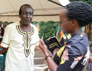 Prof Laban Erapu with Harriet Anena. Photo/Abubaker Lubowa