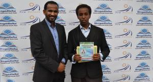 The Founder of MIBF Brother Mohamed Diini and the youngest author that stole the show; Abukar Abdullahi Mohamed