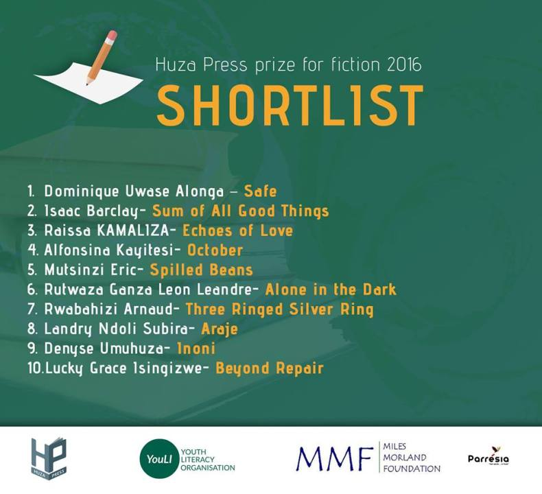 huza press shortlist 2016