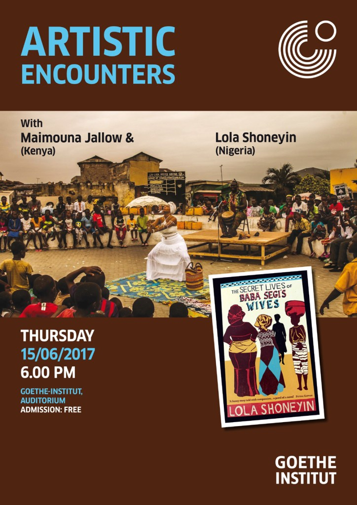 Artistic Encounters June 2017 Lola Shoneyin and Maimouna Jallow