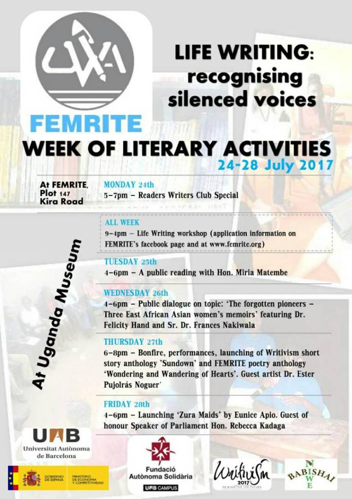 Femrite Literary Week for Kampala in July #Femlitweek
