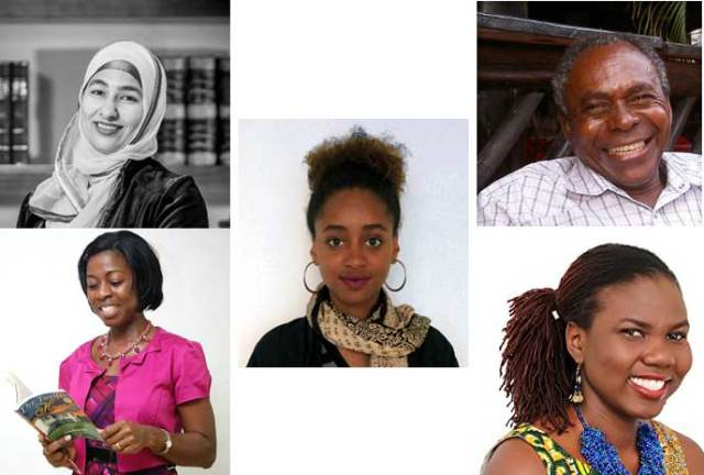 Burt Award for African Young Adult Literature 2017 All Stars Clockwise from top left: Nahida Esmail, William E. Mkufya, Ruby Yayra Goka, Elizabeth-Irene Baitie. Centre: Elshadai Tesfaye