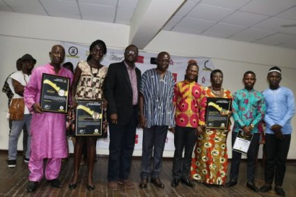 Writers receive their awards at the Ghana Writers Awards 2018