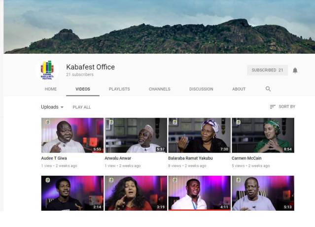 Kaba Festival 2017 YouTube page