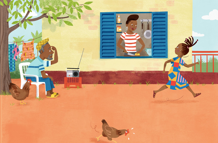 Image from inside the award winning book, Grandma's List
