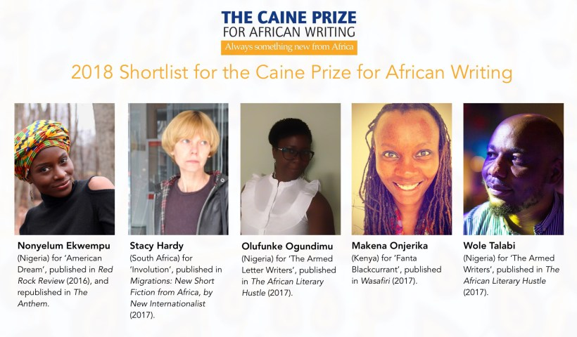 Caine Prize for African Writing 2018 shortlist
