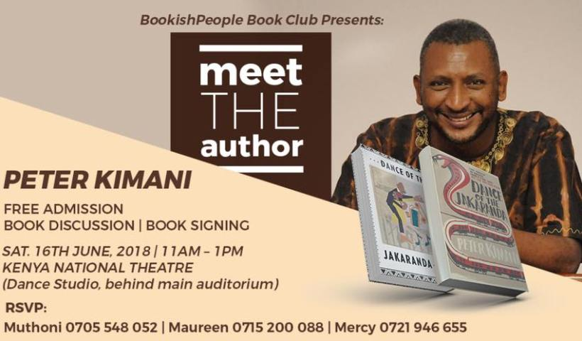 Peter Kimani for Nairobi book signing and discussion.