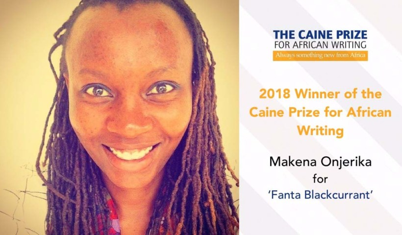 Makena Onjerika wins the Caine Prize 2018.