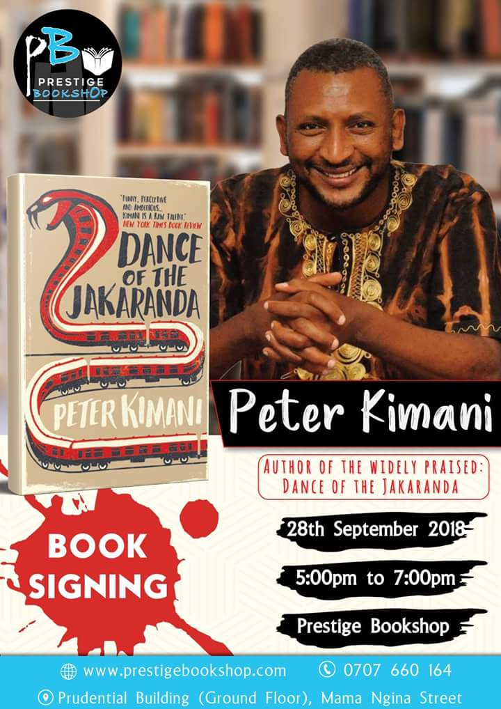 Peter Kimani at Prestige Bookshop