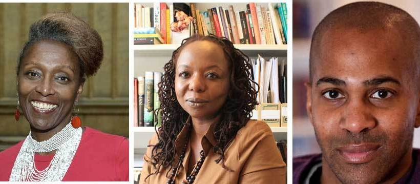 Morland Scholarship judges Muthoni Garland, Ellah Wakatama Allfrey, and Femi Terry