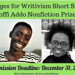 Meet the judges for the Writivism Fiction and Nonfiction prizes for 2019.