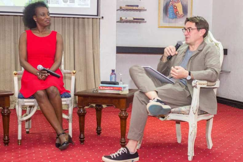 Yvonne Adhiambo Owuor with Nick Barley.