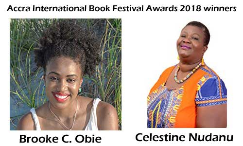Accra International Book Festival Awards 2018 winners.