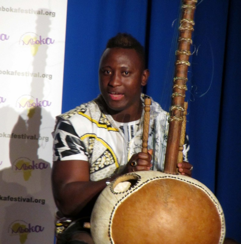 Kora player at Mboka Festival 2019