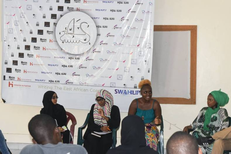 Practitioners panel at the Swahili Literary Festival 2019