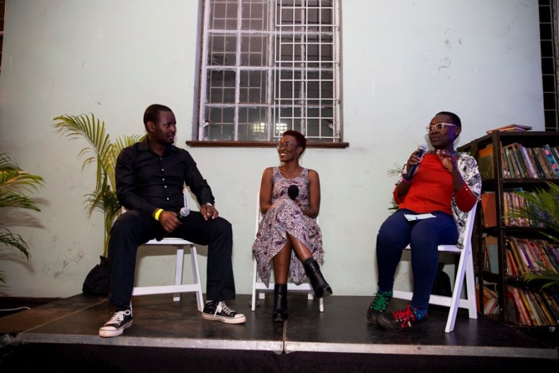 George William Kiwanuka and Lena Anyuolo moderated by Nyambura Mutanyi