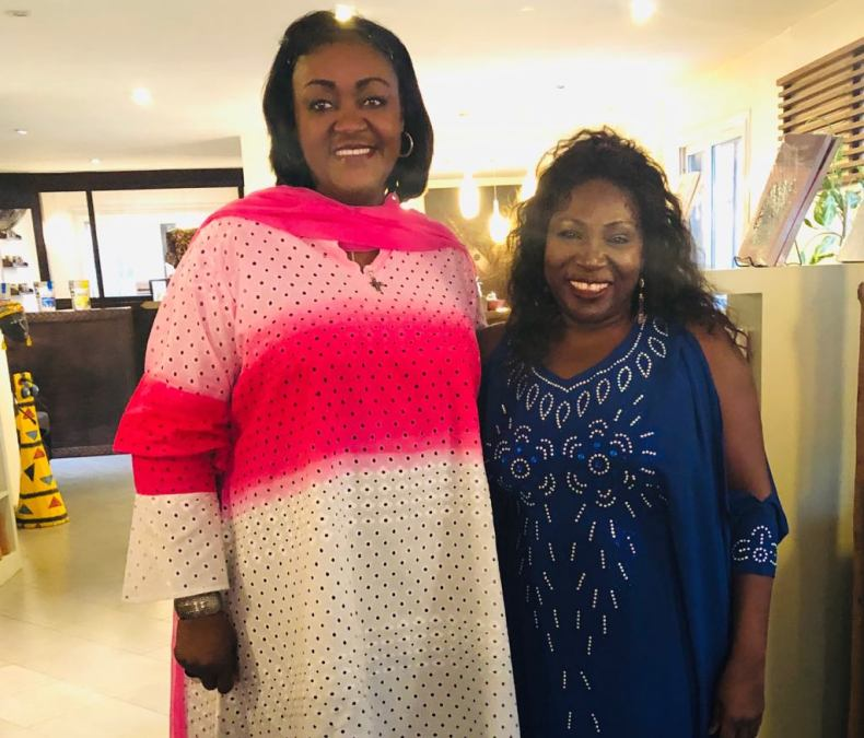 Ghana's Ambassador to Senegal Gloria Doe with Bisi Adjapon