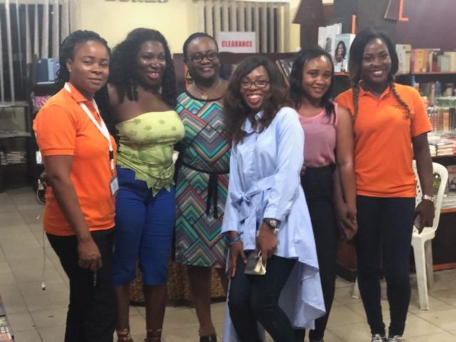 Bisi Adjapon with members of the Port Harcourt Book Club