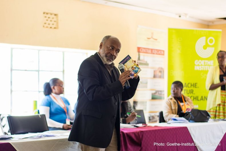 Patrick Ngugi at Literary Caravan in Nakuru