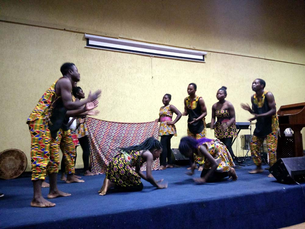 Music Crossroads Malawi perform at the opening ceremony of the Feminarts Arts and Book Festival 2019 opening ceremony