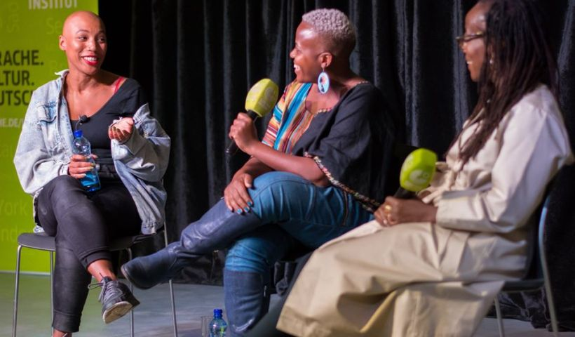 Thandi Sebe, Zukiswa Wanner, and Tsitsi Dangarembga at Artistic Encounters