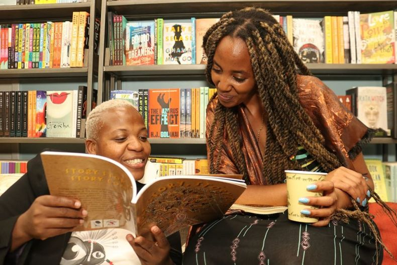 Zukiswa Wanner and a literary enthusiast