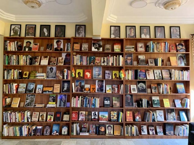The African Writers Shelves at the Library Of African and The African Diaspora (LOATAD),