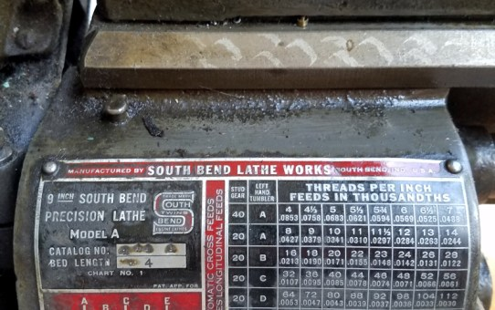 A gently used South Bend 9C Lathe