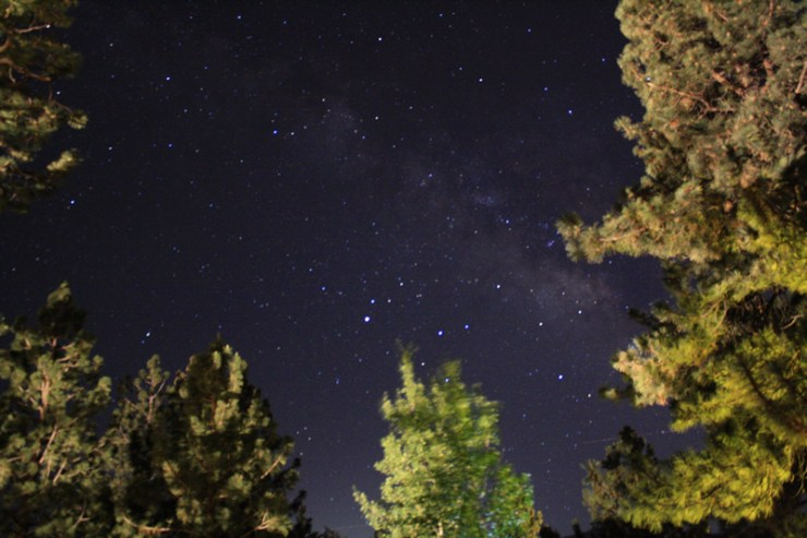 An uninteresting composition, my experiments with Wide Angle Astrophotography of the Milky Way did give me some good images of the galaxy.  This image was taken at 18mm F3.5 ISO 1600 with a Canon EOS Rebol XS.