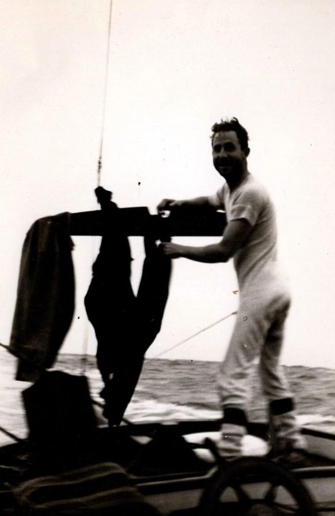 Honolulu Classic - O.S. Charlie Duffy doing laundry