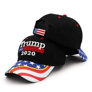 2020 Trump Hat - High-Quality, High-Relief (Raised Lettering) USA Flag Cap