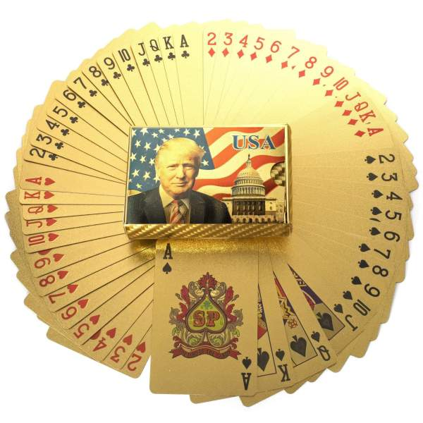 24K GOLD President Trump Playing Cards Trump - Make Your Poker Game Great Again!